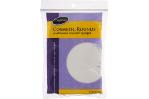 CareOne Cosmetic Rounds Professional Cosmetic Sponges - 12 CT