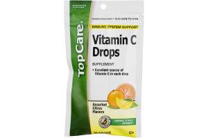 TopCare Vitamin C Drops Assorted Citrus Flavors - 30 CT