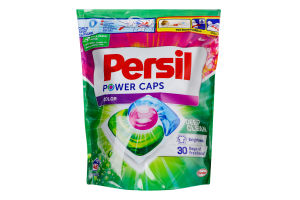 Средство моющее для стирки цветных вещей в капсулах Power Caps Color Deep Clean Persil 48х15г