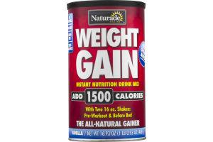 Naturade Weight Gain Instant Nutrition Drink Mix Vanilla