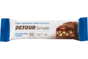 Detour Simple Whey Protein Bar Chocolate Chip Caramel