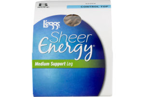 L'eggs Sheer Energy Medium Support Leg Control Top B Nude