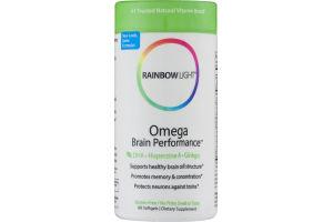 Rainbow Light Omega Brain Performance Dietary Supplement Softgels - 60 CT