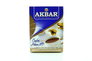 Чай черный крупнолистовой Ceylon Pekoe №1 Akbar к/у 100г