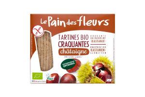 Хлібці LePaindesFleurs органічні безглютенові з каштану 150г