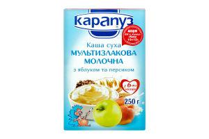 Каша Карапуз Мультизлакова мол. з яблуком і персиком 250г
