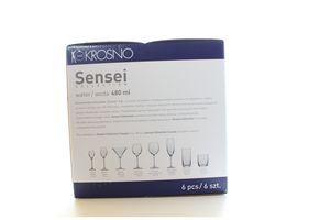 Набір Krosno Sensei бокалів для води 480мл 6шт