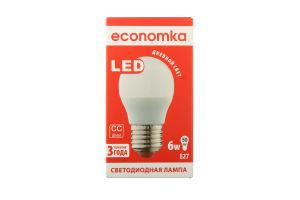 Лампа світлодіодна Economka LED G45 6W E27 4200K 1шт