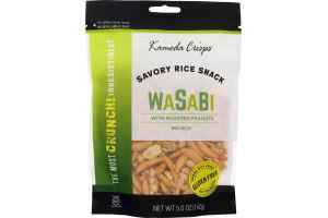 Kameda Crisp Savory Rice Snack Wasabi With Roasted Peanuts