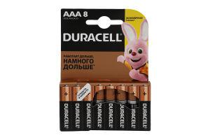 Батарейки AAA LR03 MN2400 Duracell 8шт