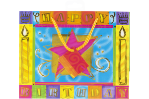 Designer Greetings Glitterwrap Giftbag Happy Birthday