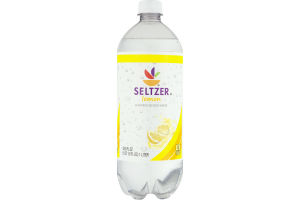 Ahold Flavored Seltzer Water Lemon