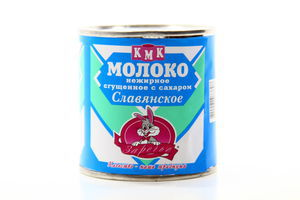 Молоко Заречье згущене з цукром Слов'янське 0,5% 370г х15