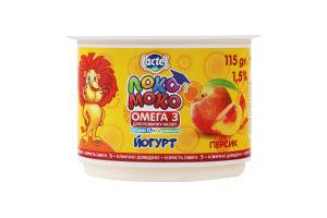 Йогурт 1.5% з персиком Локо Моко ст 115г