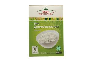 Рис длиннозернистый в пакетиках Бест Альтернатива к/у 5х80г
