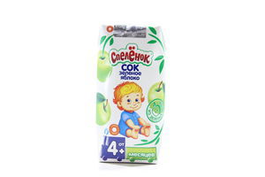 Сок зеленое яблоко Спеленок т/п 0,2л