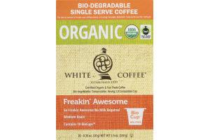 White Coffee Organic Freakin' Awesome Medium Roast BioCups- 10 CT