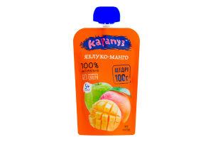 Пюре для детей от 5мес без сахара Яблоко-манго Карапуз д/п 100г