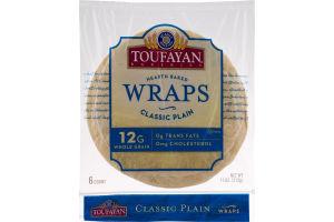 Toufayan Bakeries Wraps Classic Plain - 6 CT