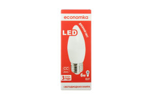Лампа світлодіодна Economka LED CN 6W E27 4200K 1шт