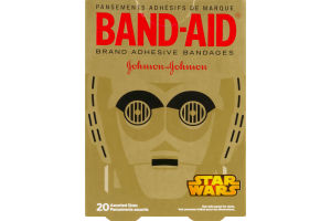 Band-Aid Brand Adhesive Bandages Assorted Sizes Star Wars - 20 CT