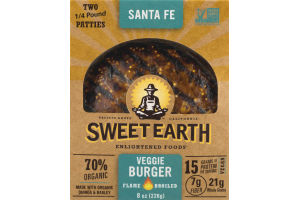 Sweet Earth Veggie Burger Santa Fe - 2 CT