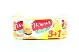 Йогурт Дольче Персик-маракуйя 3,2% 4*120г х3