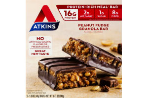 Atkins Peanut Fudge Granola Bar - 5 CT