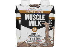 Muscle Milk Protein Shake Coffee House Mocha Latte - 4 CT