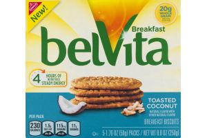 Nabisco belVita Breakfast Biscuits Toasted Coconut - 5 PK