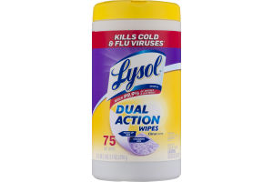 Lysol Dual Action Wipes Citrus Scent - 75 CT