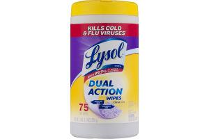 Lysol Dual Action Wipes Citrus Scent - 75 CT