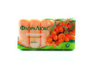 Мило ФлораЛюкс туалетне Обліпиха 5*70г х18