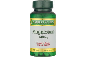 Nature's Bounty Magnesium 500 MG - 100 CT