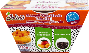 Десерт Манго-маракуйя-чиа Chia Seeds Jolino ст 130г