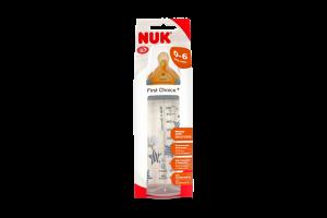 Бутылочка NUK First Choice, 300 мл + соска NUK, 1 р. (латекс)