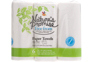 Nature's Promise Any Size Paper Towels - 6 CT