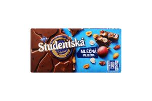 Шоколад молочний з арахісом, желейними шматочками та родзинками Studentska м/у 180г