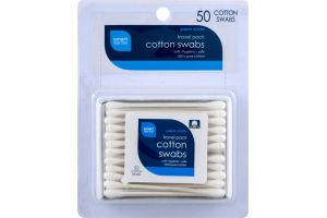Smart Sense Cotton Swabs Travel Pack - 50 CT