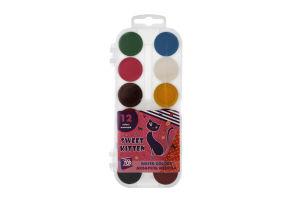 Фарби CoolForSchool акварельні медові 12 кольорів 60139