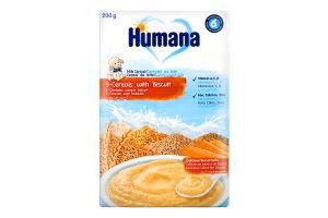 Молочна каша з печивом суха 5 злаків Humana к/у 200г