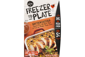 The Good Table Freezer To Plate Seasoned Rice with Black Beans Corn and Roasted Tomato Sauce Southwestern