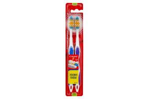 Зубная щетка средней жесткости Классика здоровья Colgate 2шт
