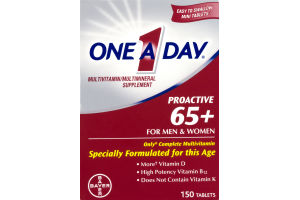 One A Day Multivitamin Proactive 60+ For Men & Women Tablets - 150 CT