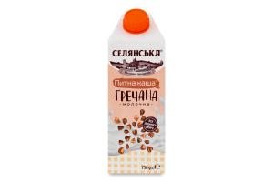 Каша молочна 2.5% питна гречана ультрапастеризована Селянська т/п 750г