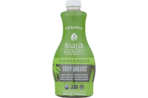 Suja Organic Elements + Supergreens Fruit & Vegetable Juice Smoothie Easy Greens