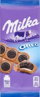 Шоколад молочний з печивом з начинкою зі смаком ванілі Oreo Milka м/у 92г