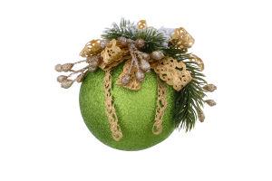 Прикраса новорічна Куля декорована Mislt 1шт
