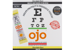 OJO Quickly Dissolving Eye Care Crystals Citrus Lutein Burst Sugar Free - 30 CT