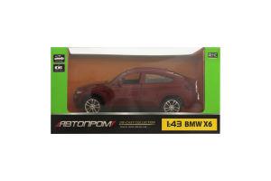 Машинка метл BMW X6 1:43 Автопром 67313